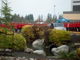 RCMP formed up for casket arrival