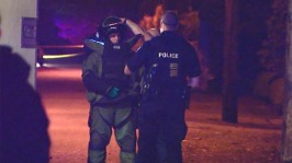 CBC published this photo of the EDU technician and myself as he came back from the scene and briefed us.