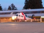 Landing the Air Ambulance in a parking lot.